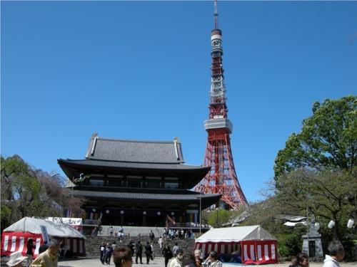 08増上寺と東京タワー.JPG